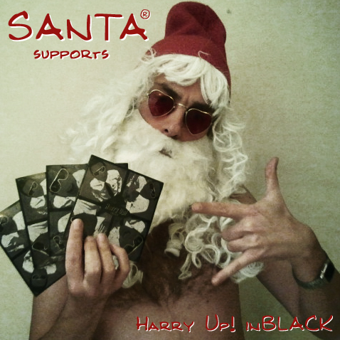 Santa supports inBLACK